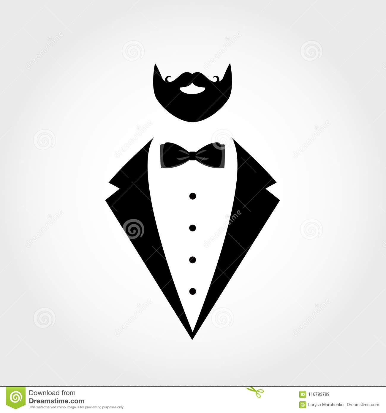Suit Icon Isolated On White Background. Stock Vector