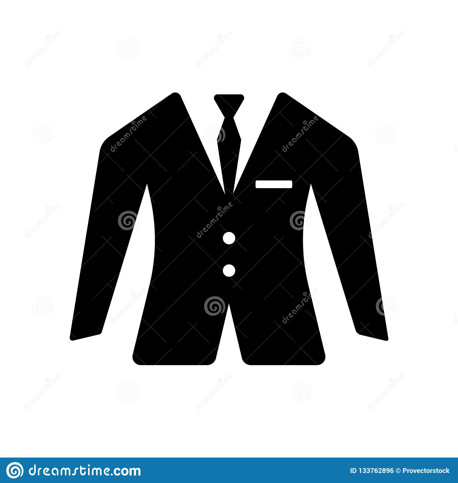 Suit Icon Vector Sign And Symbol Isolated On White