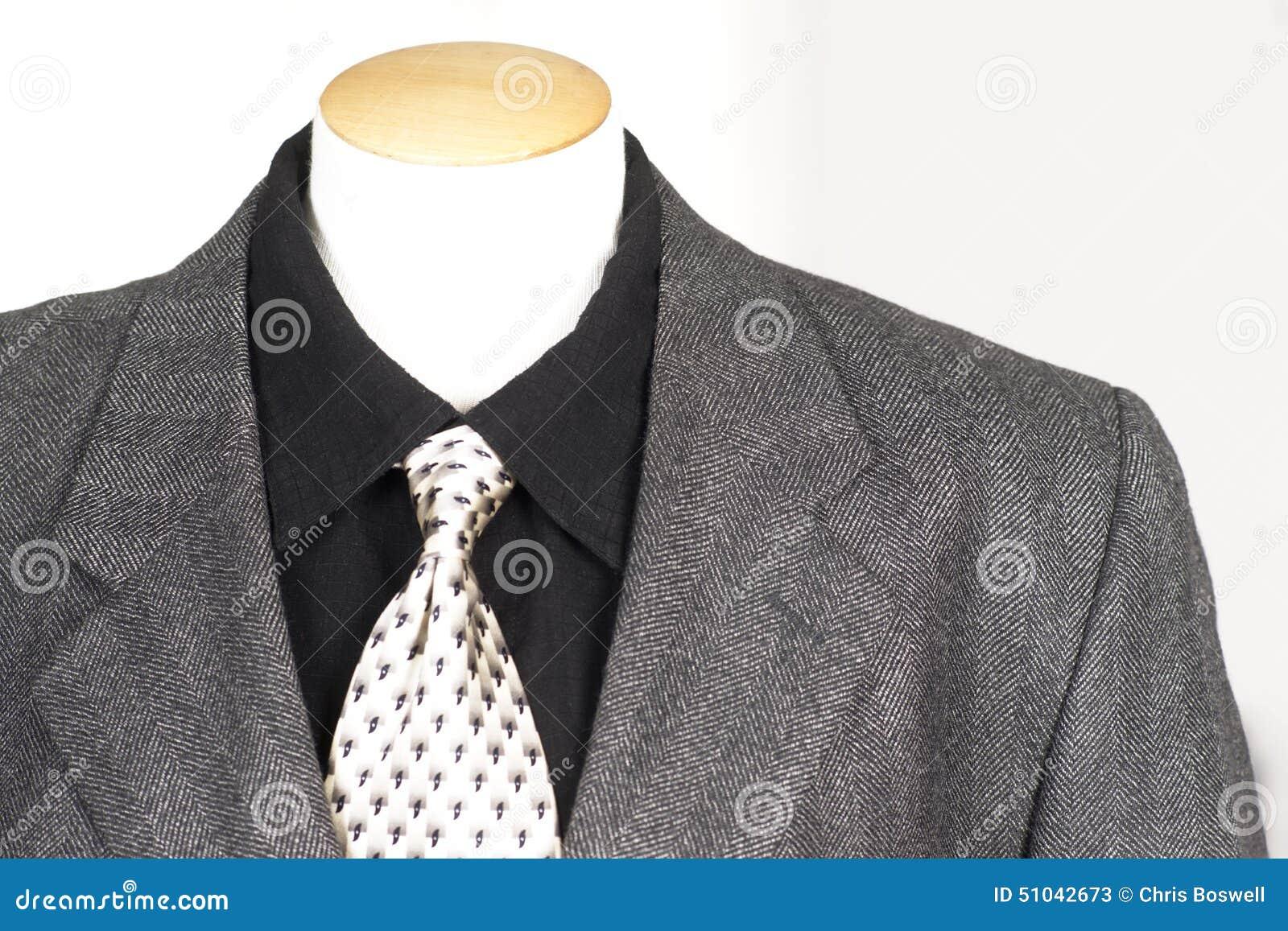 Stock Photo: Suit Shirt Tie Department Store Mannequin Display