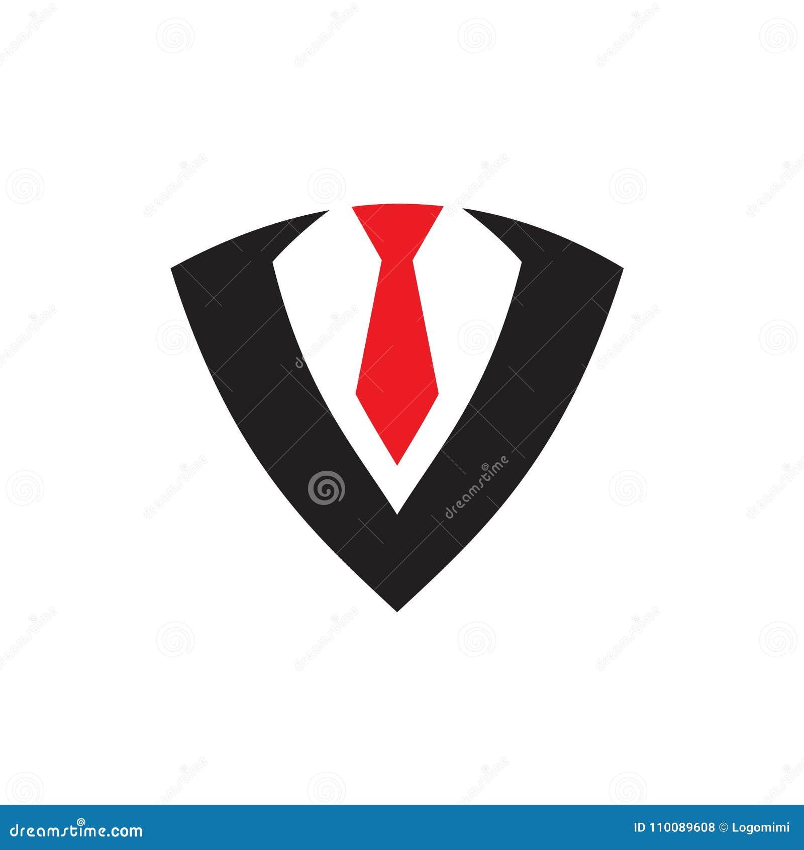 Logo Tie Symbol Icon Vector Illustration Stock Vector