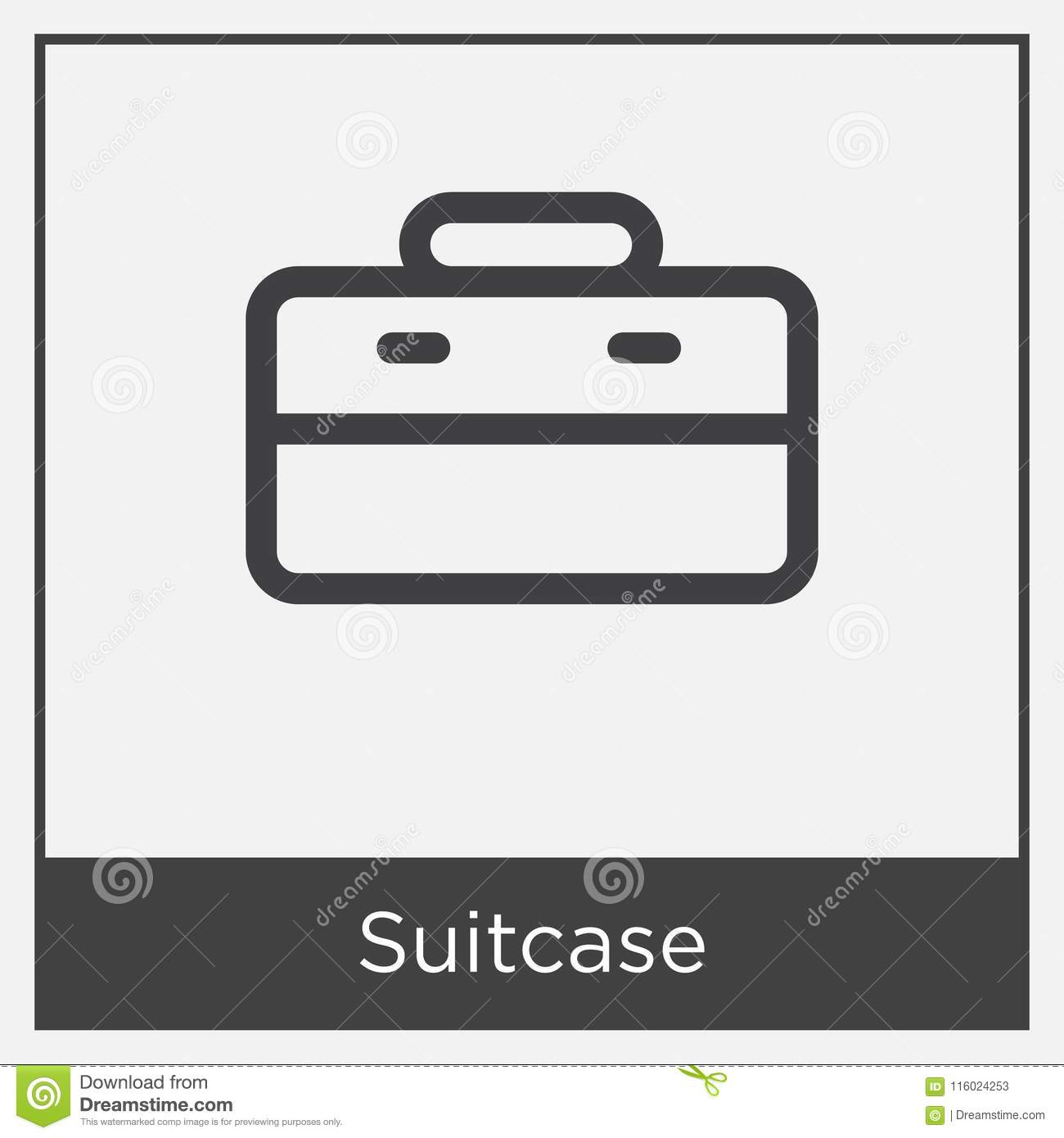 Suitcase Icon Isolated On White Background Stock Illustration ...