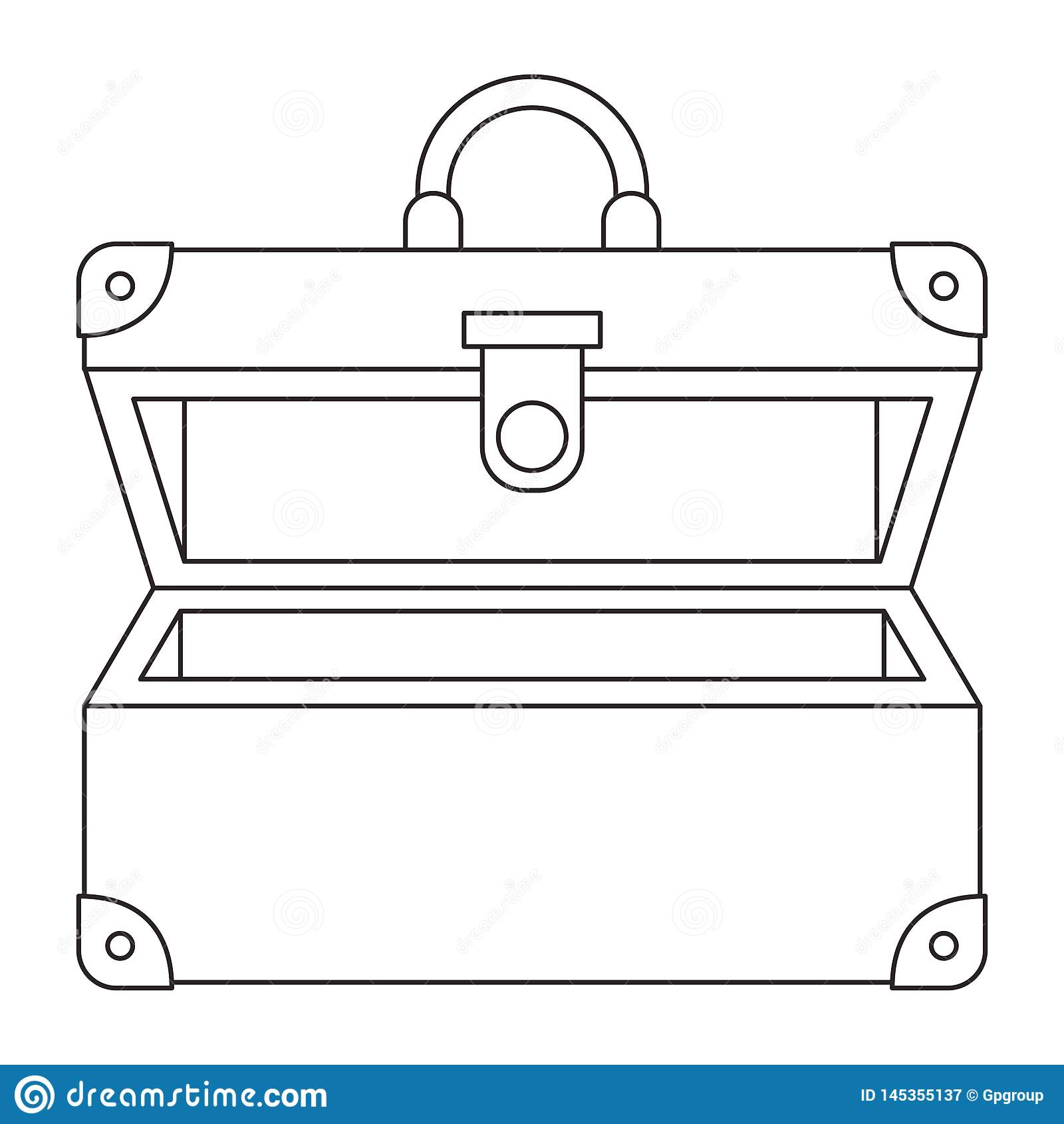 Suitcase travel open isolated icon. Vector illustration design royalty free stock photography