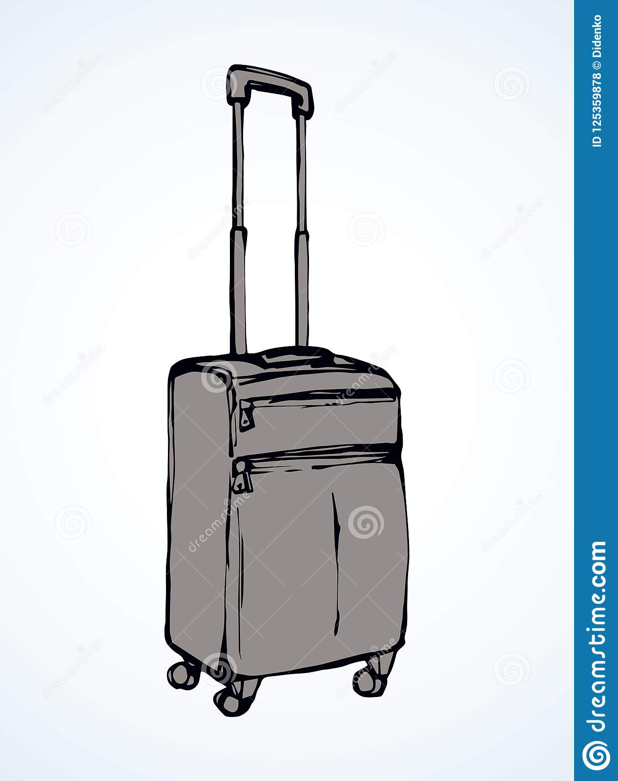 Suitcase. Vector drawing stock vector. Illustration of