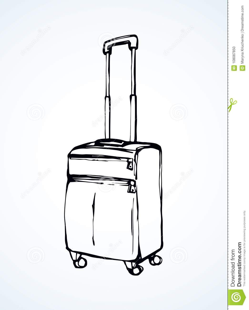 Suitcase. Vector drawing stock vector. Illustration of empty