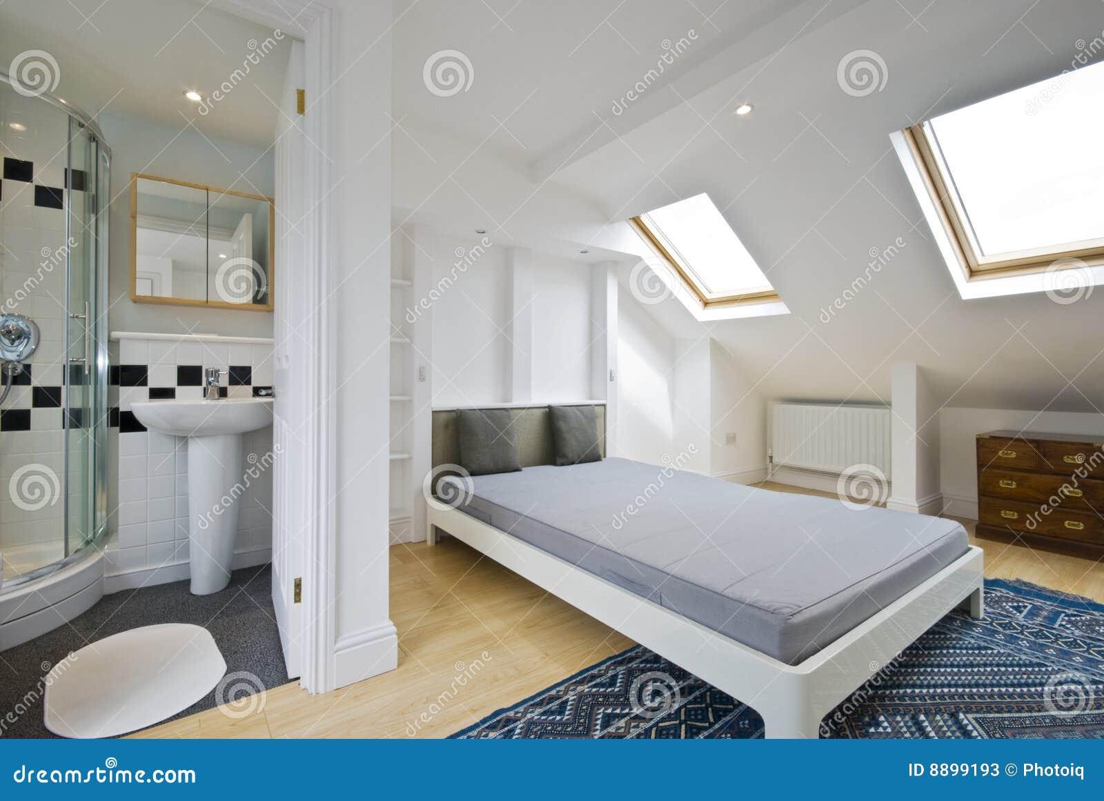 Suite D En De Chambre Coucher De Salle De Bains Image Stock