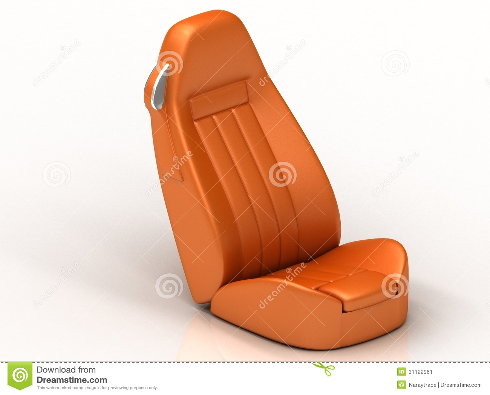 suite orange car seat from the car stock image image 31122961. Black Bedroom Furniture Sets. Home Design Ideas