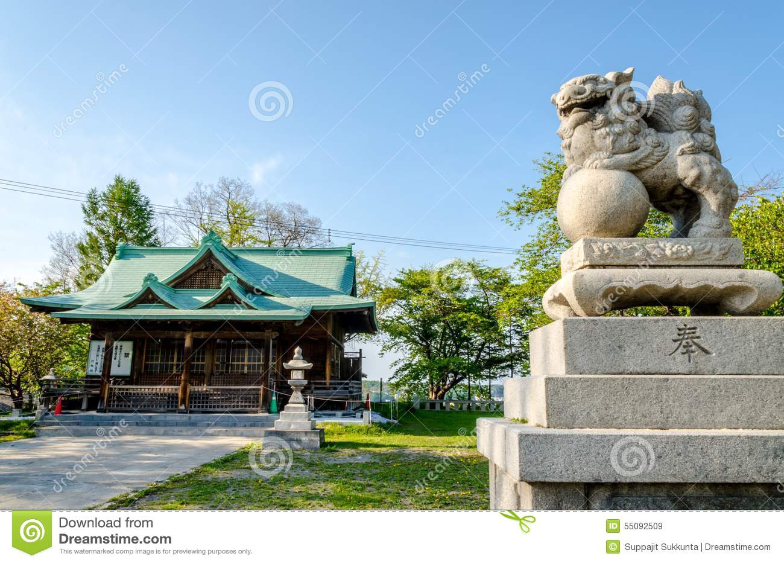 Suitengu shrine the temple of shinto religion at Otaru, Hokkaido