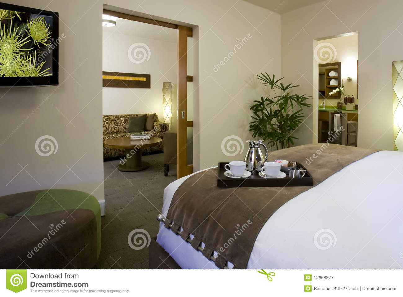 Suites and guest rooms in a boutique hotel royalty free for Boutique inns with rooms