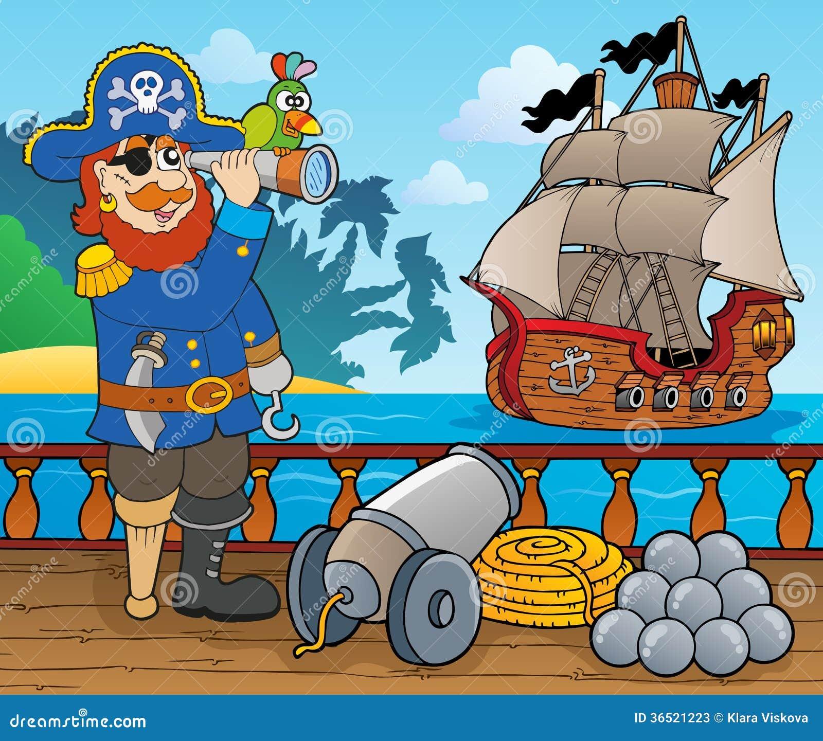 Sujet 1 de plate-forme de bateau de pirate