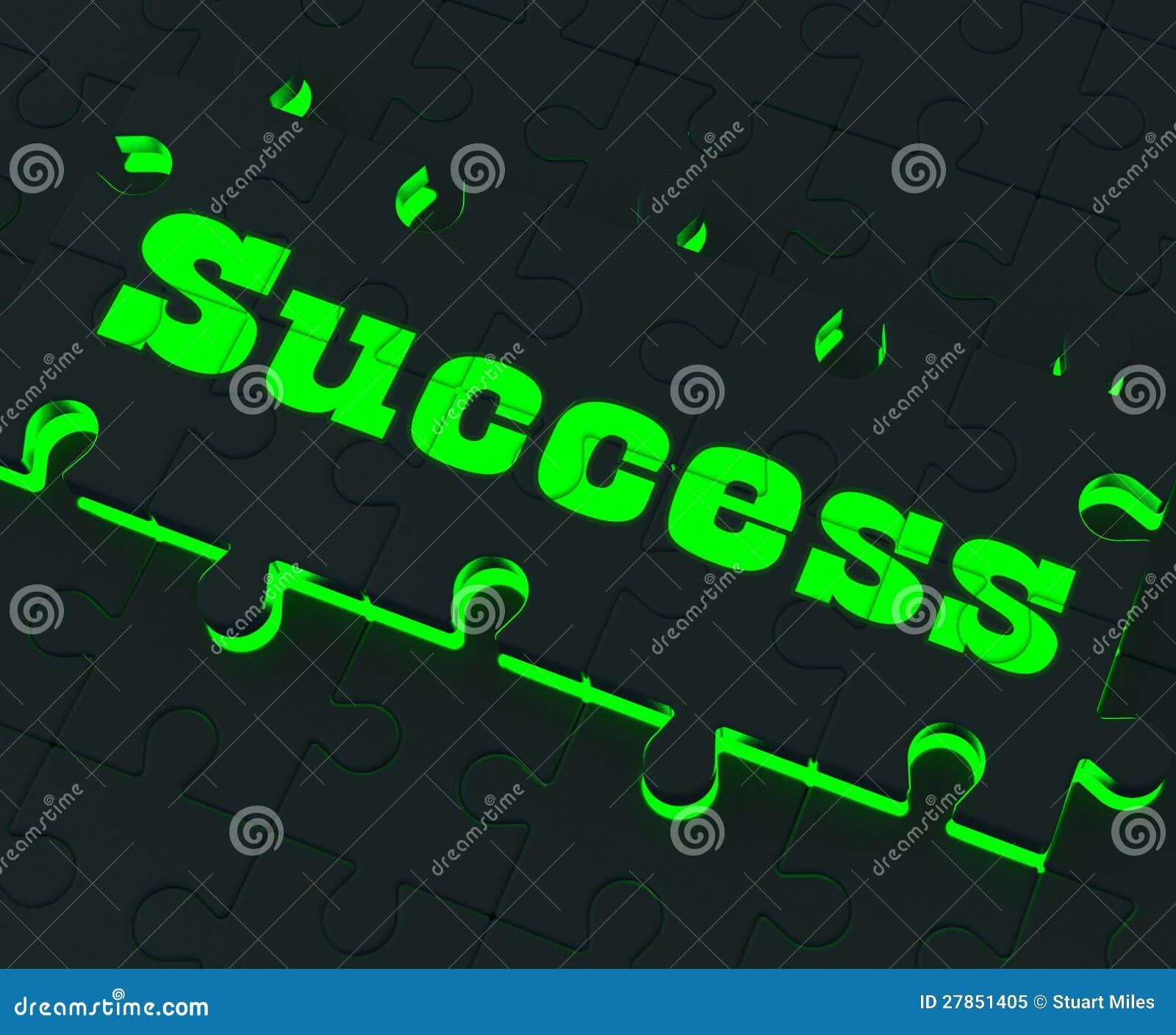 Sukces łamigłówka Pokazuje Pomyślne strategie