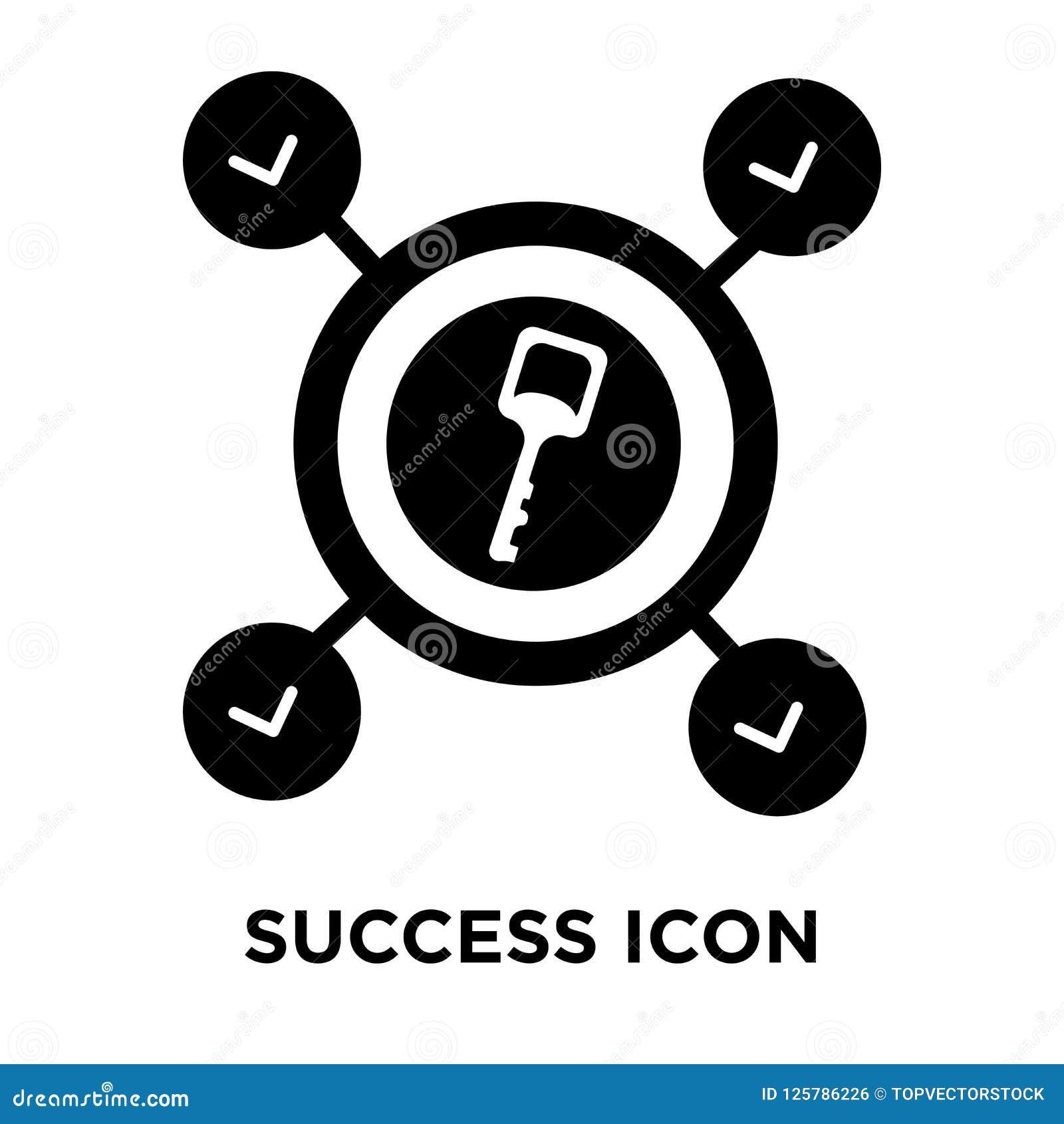 Sukces ikony wektor odizolowywający na białym tle, loga pojęcie o