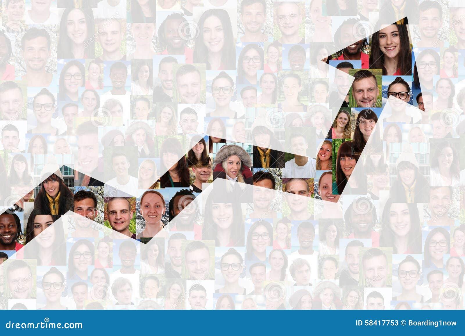 Sukces lub pomyślna wzrostowa strategia w biznesie z ludźmi