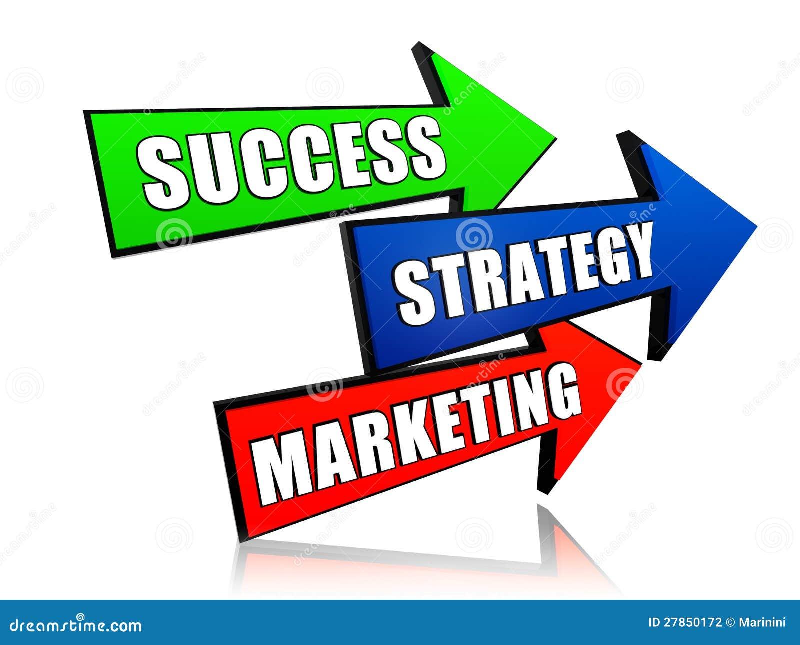 Sukces strategia i marketing w strzała,