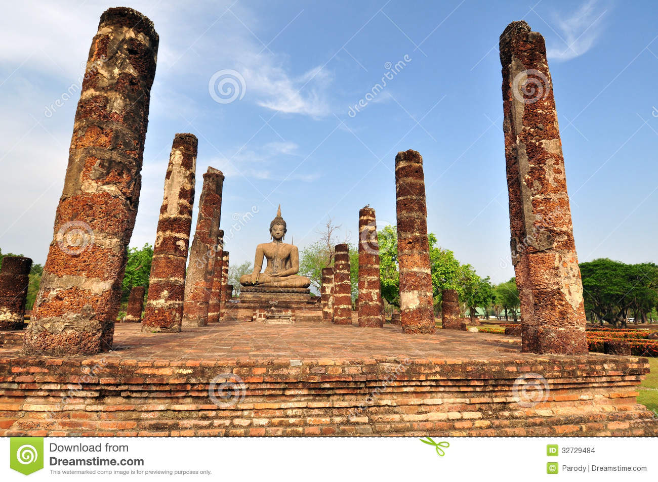 Sukhothai Ruin Old City Country,Thailand Stock Images ...