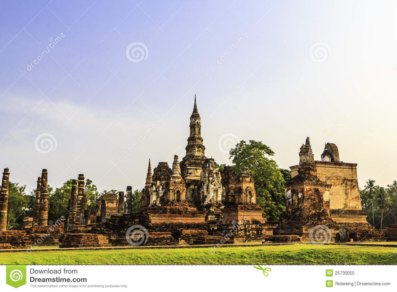 Sukhothai temple from thailand