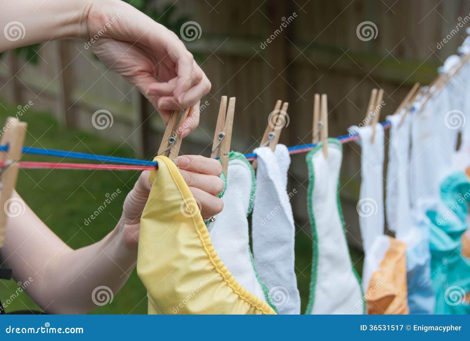Sukienne pieluszki na Clothesline