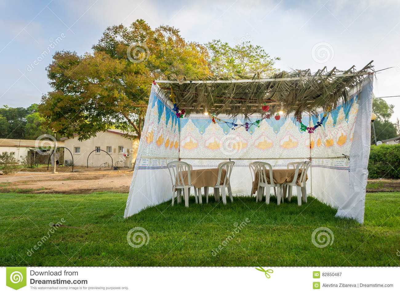 Royalty-Free Stock Photo & Sukkah - Symbolic Temporary Hut For Celebration Of Jewish Holiday ...