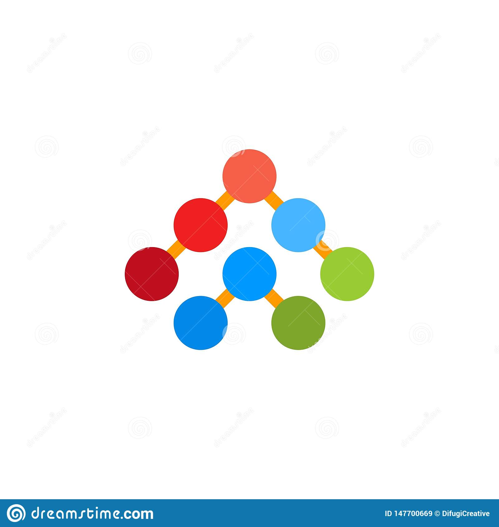 Sul logo di simbolo della freccia