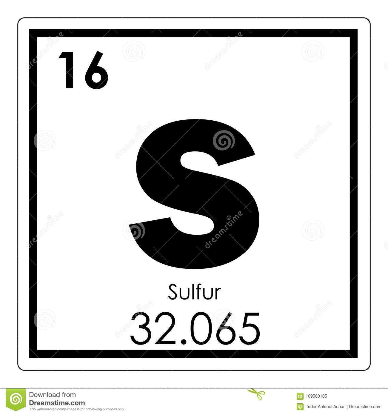 Sulfur chemical element stock illustration illustration of symbol sulfur chemical element symbol chemistry buycottarizona Image collections