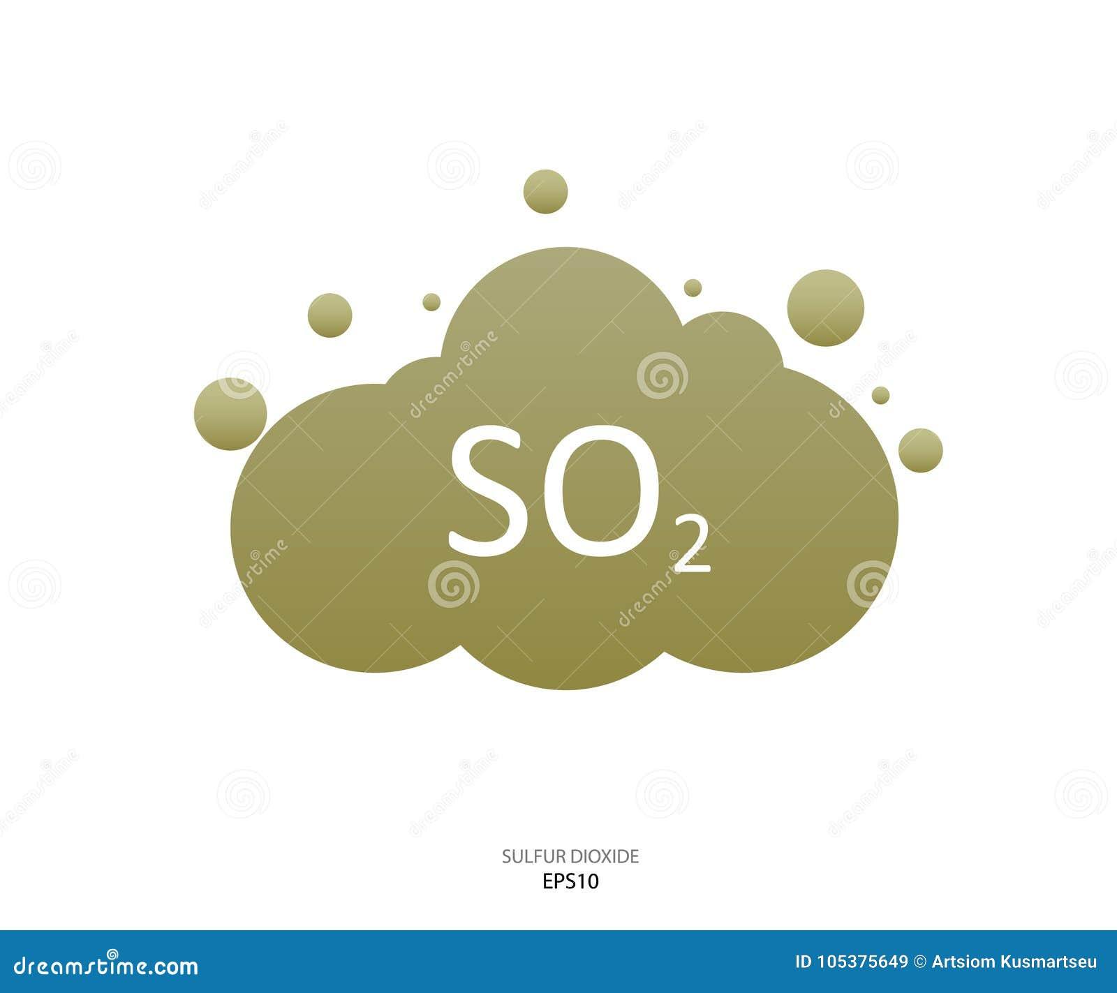 Sulfur Dioxide Symbol Stock Illustration Illustration Of Atom