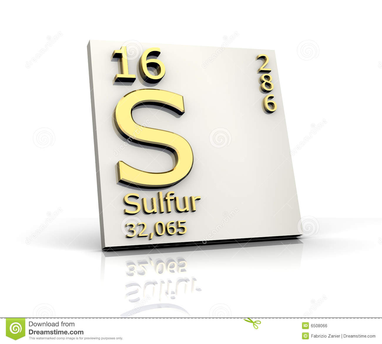 Sulfur Form Periodic Table Of Elements Stock Illustration