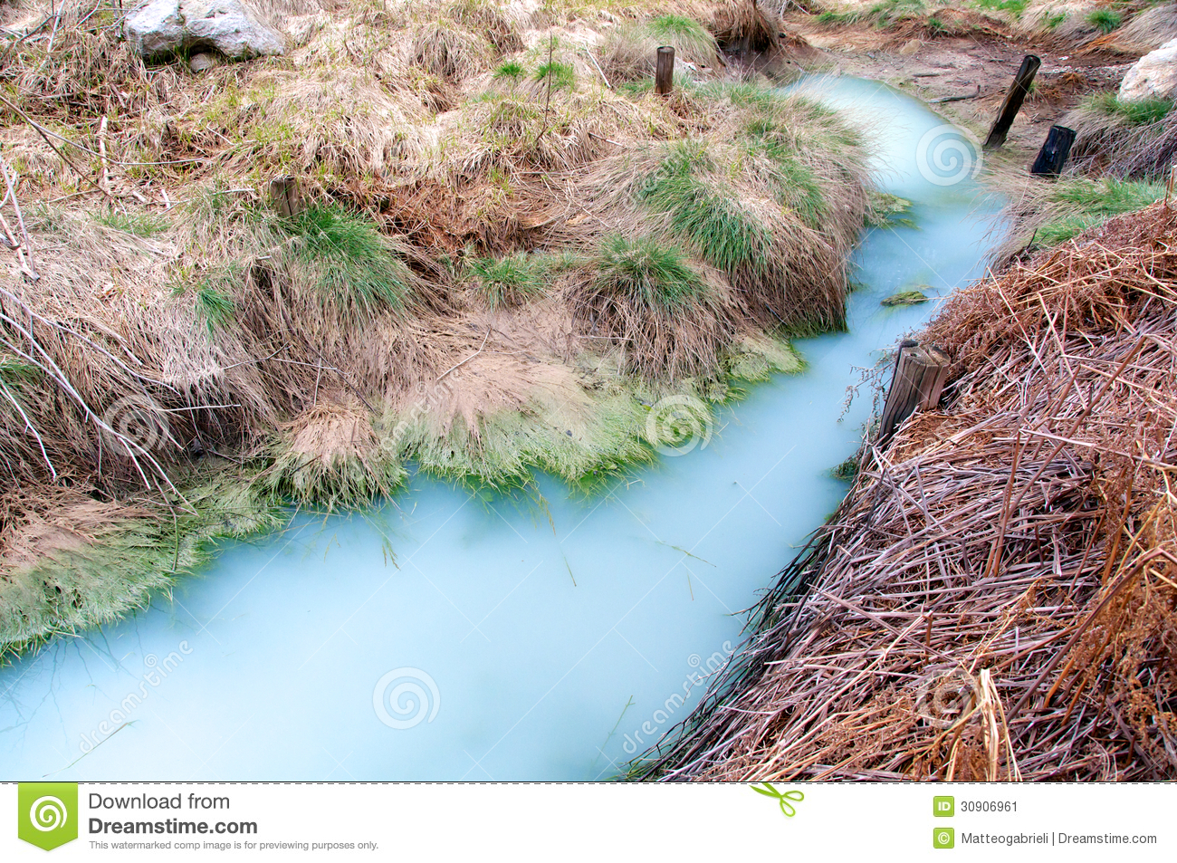 sulfur and water