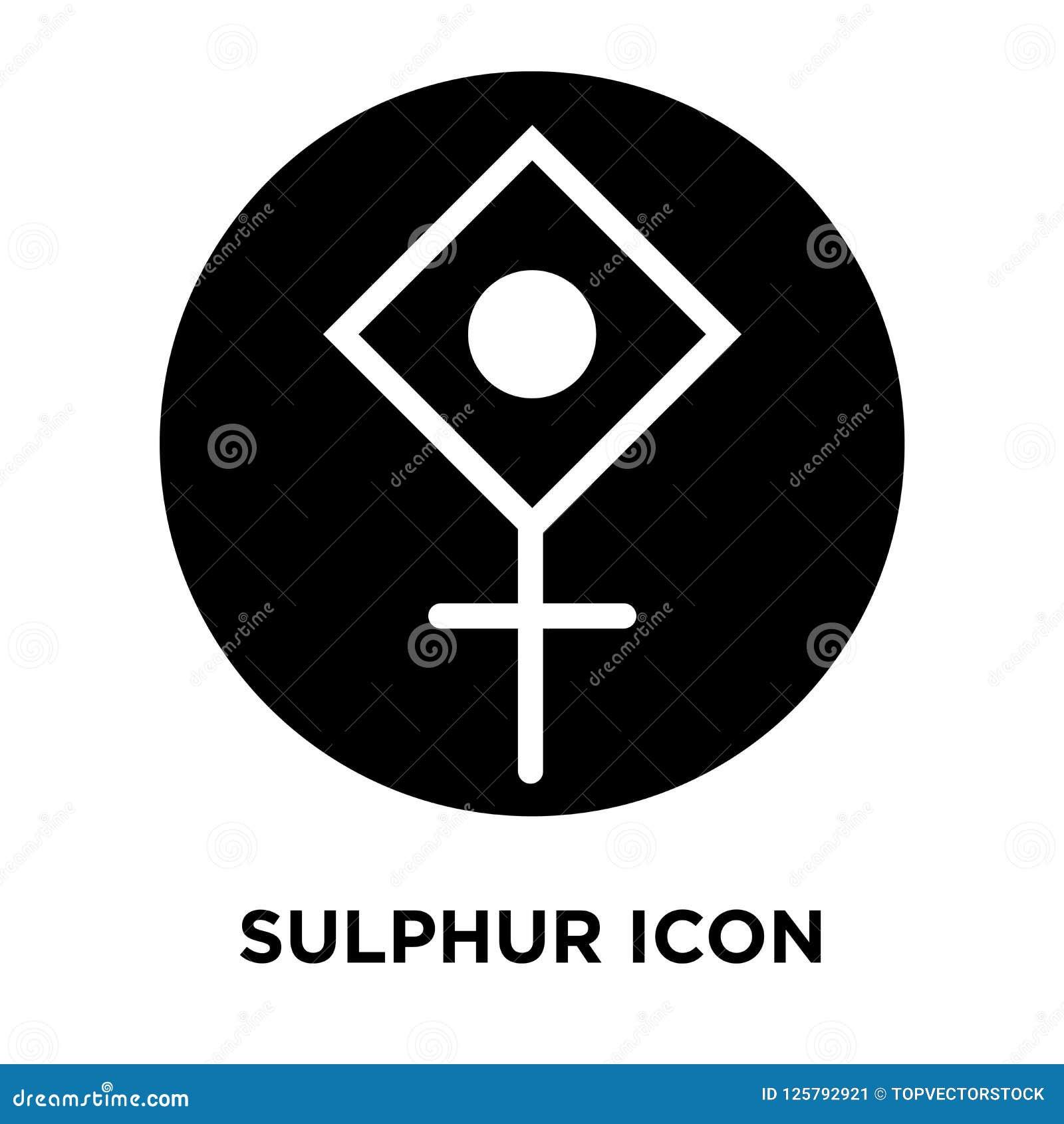 Sulfure el vector del icono aislado en el fondo blanco, concepto o del logotipo