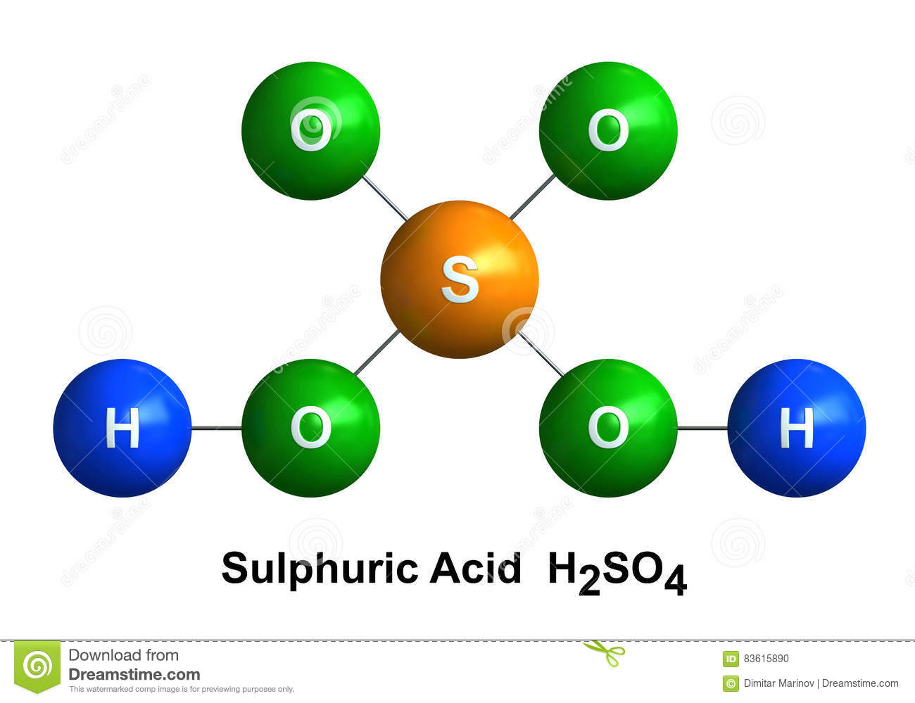 Sulfuric Acid Stock Illustration Illustration Of Symbol 83615890