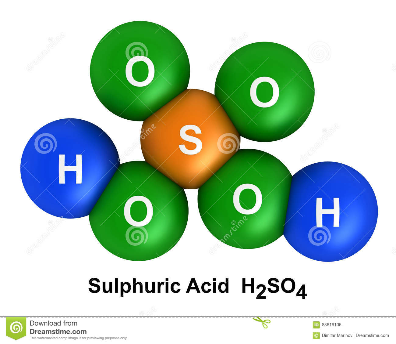Sulfuric Acid Stock Illustration Illustration Of Rendering 83616106