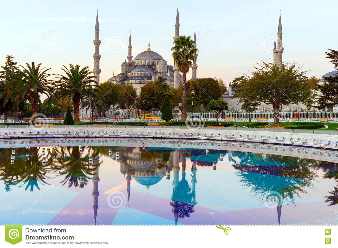 Sultan Ahmed Mosque & x28; Blåa Mosque& x29; , Istanbul, Turkiet