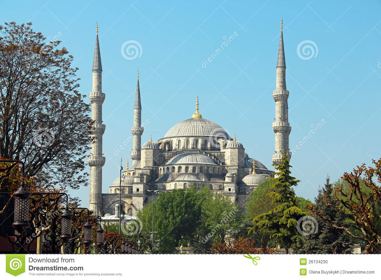 Download Sultan Ahmed Mosque (the Blue Mosque), Istanbul Stock Photo - Image of cityscape, destination: 26134230