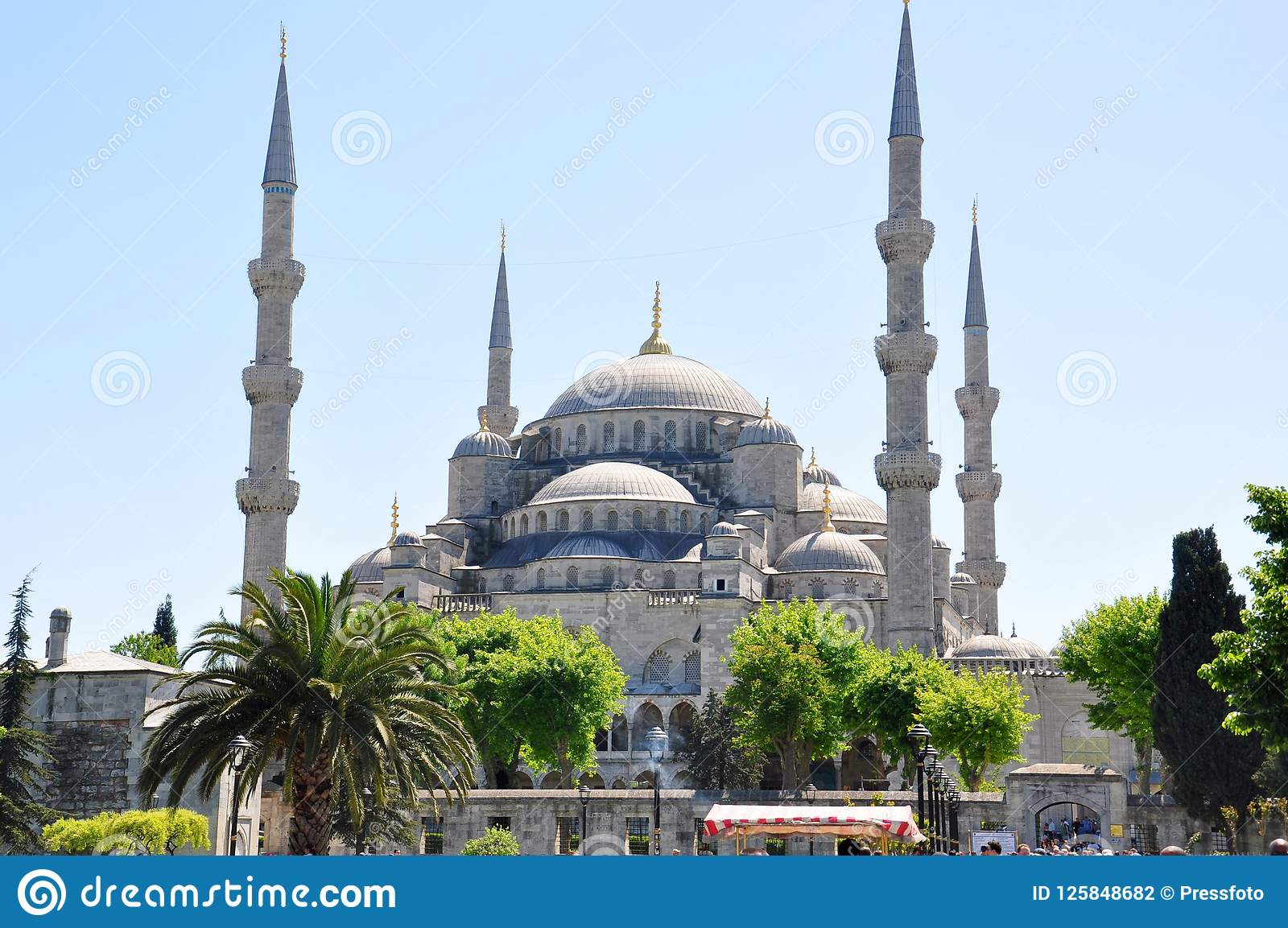 Sultan Ahmed Mosque Blue Mosque Istanbul Editorial