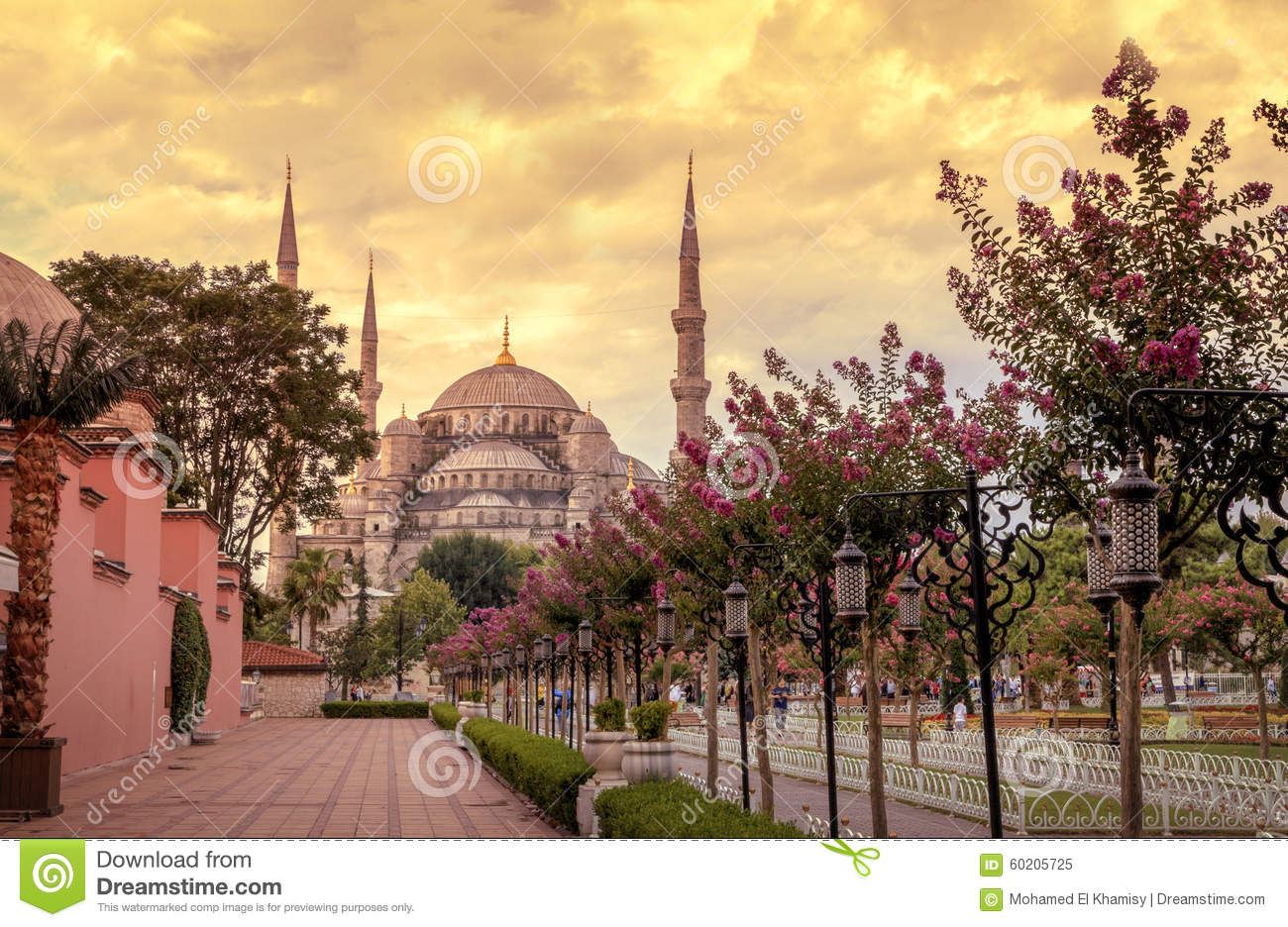 Download Sultan Ahmet Mosque (Blue Mosque),Istanbul - Turkey. Stock Image - Image of europe, asian: 60205725