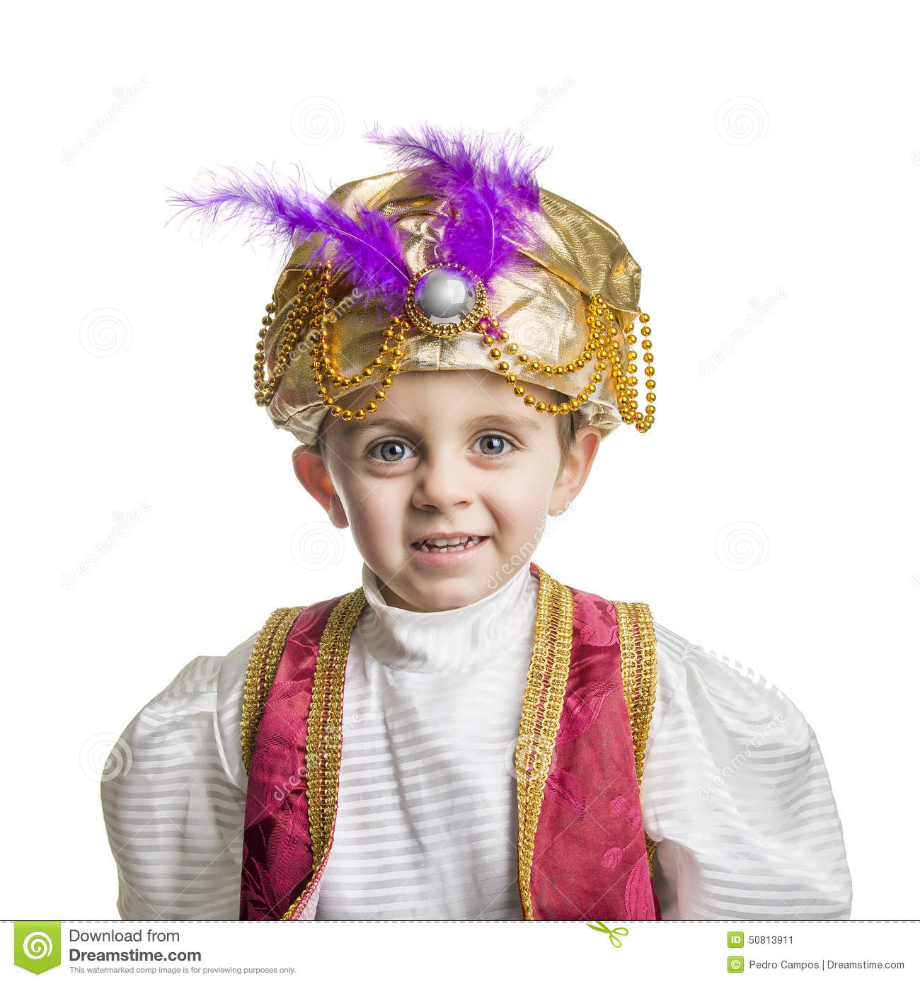 Sultan child isolated