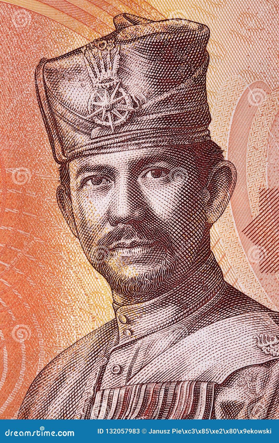 Sultan Hassanal Bolkiah stående