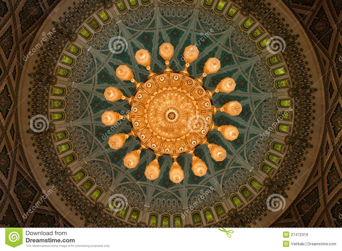 Sultan Qaboos Mosque Royalty Free Stock Images Image
