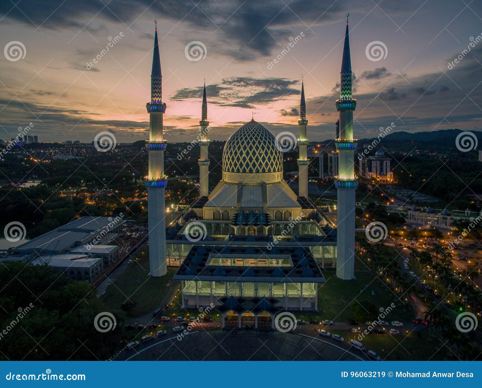 Sultan Salahuddin Abdul Aziz Shah moské, Shah Alam, Selangor, Malaysia