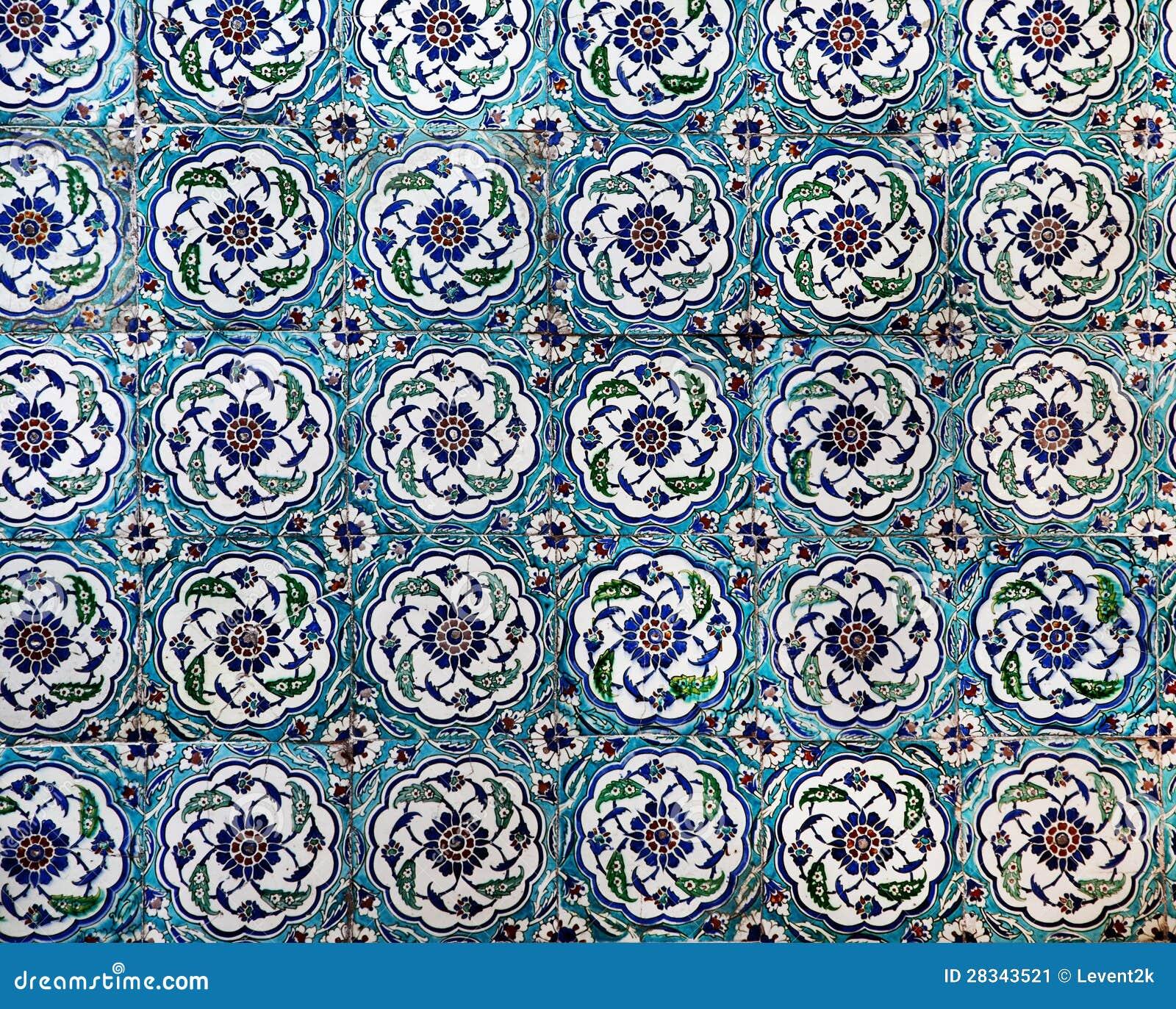 Sultanahmet Blue Mosque interior - tiles
