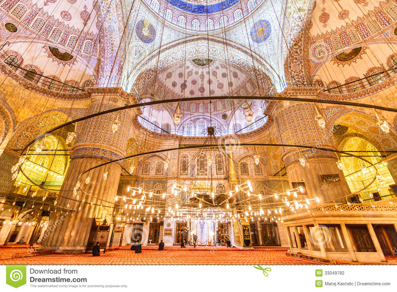 Download Sultanahmet Mosque (Blue Mosque) In Istanbul, Turkey Stock Photo - Image of mosque, ancient: 33049782