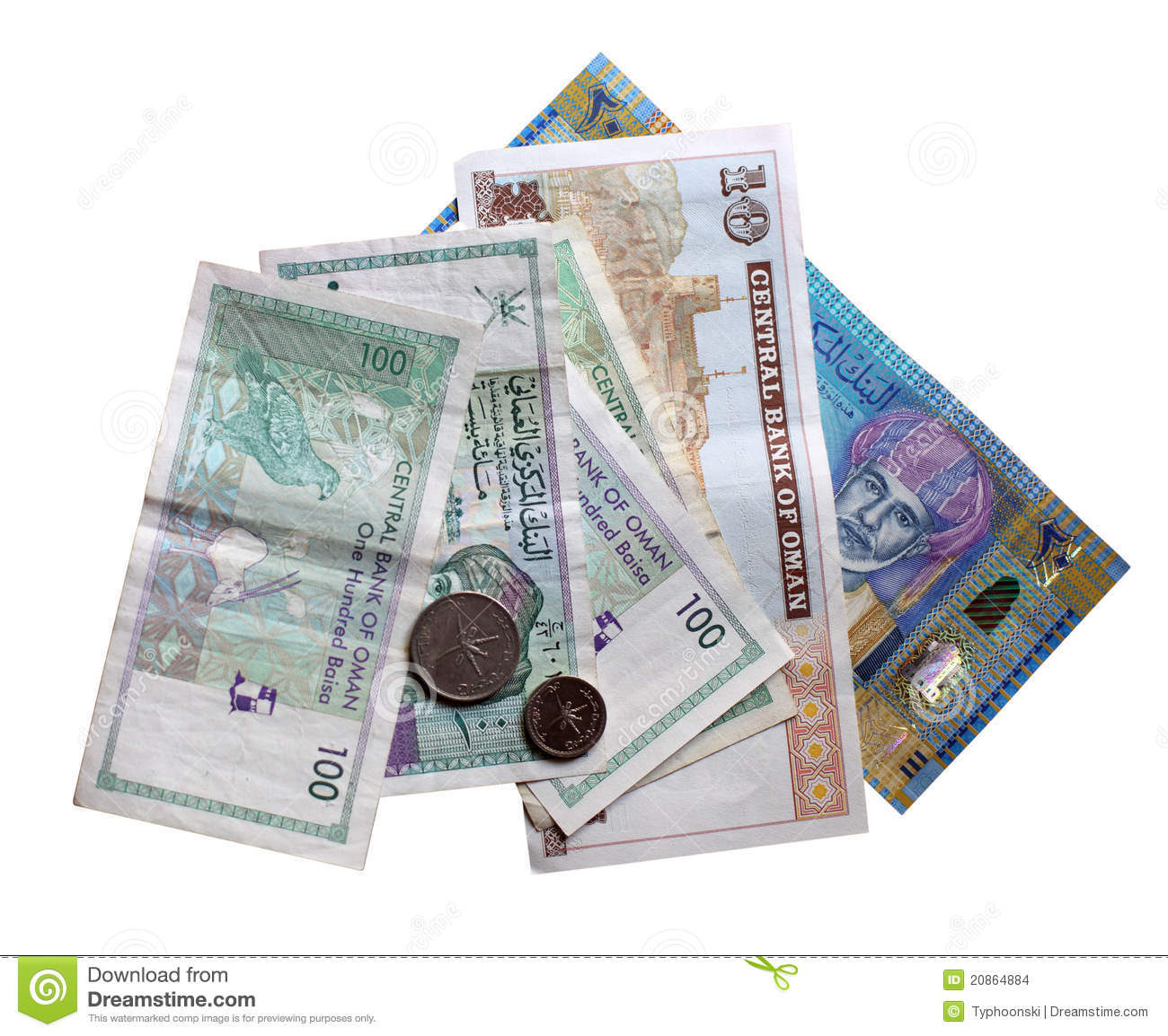 Sultanate Of Oman Currency Stock Photo Image Of Cutout 20864884