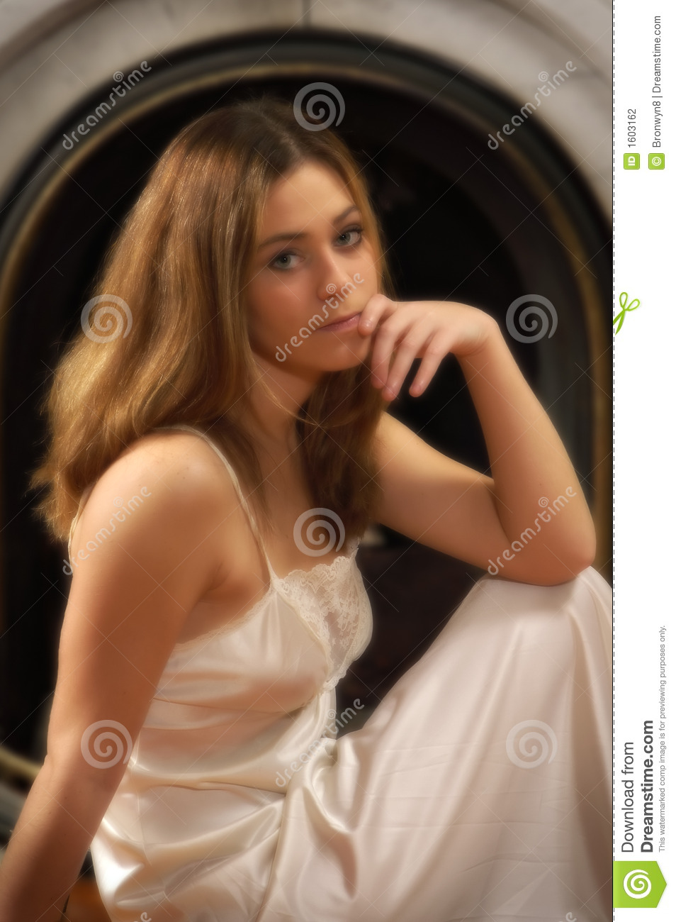 ... , wearing a... Nightgown Clipart