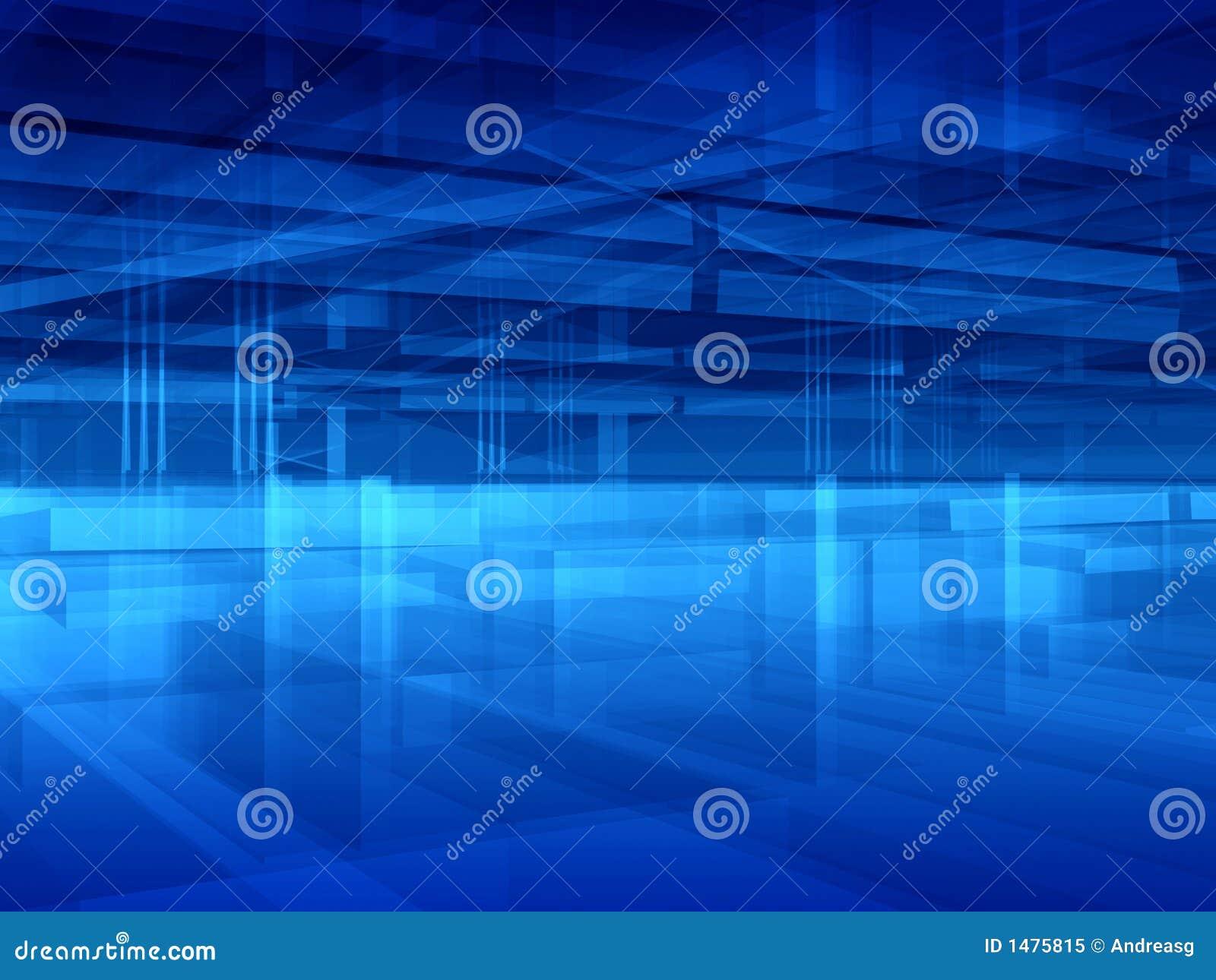 Sumário azul do salão