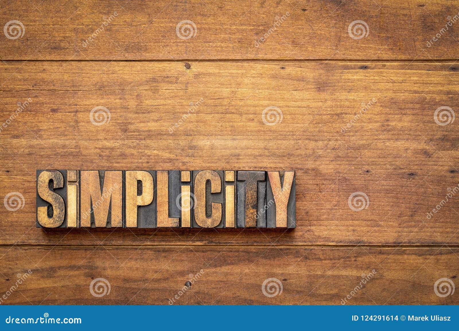 Sumário da palavra da simplicidade