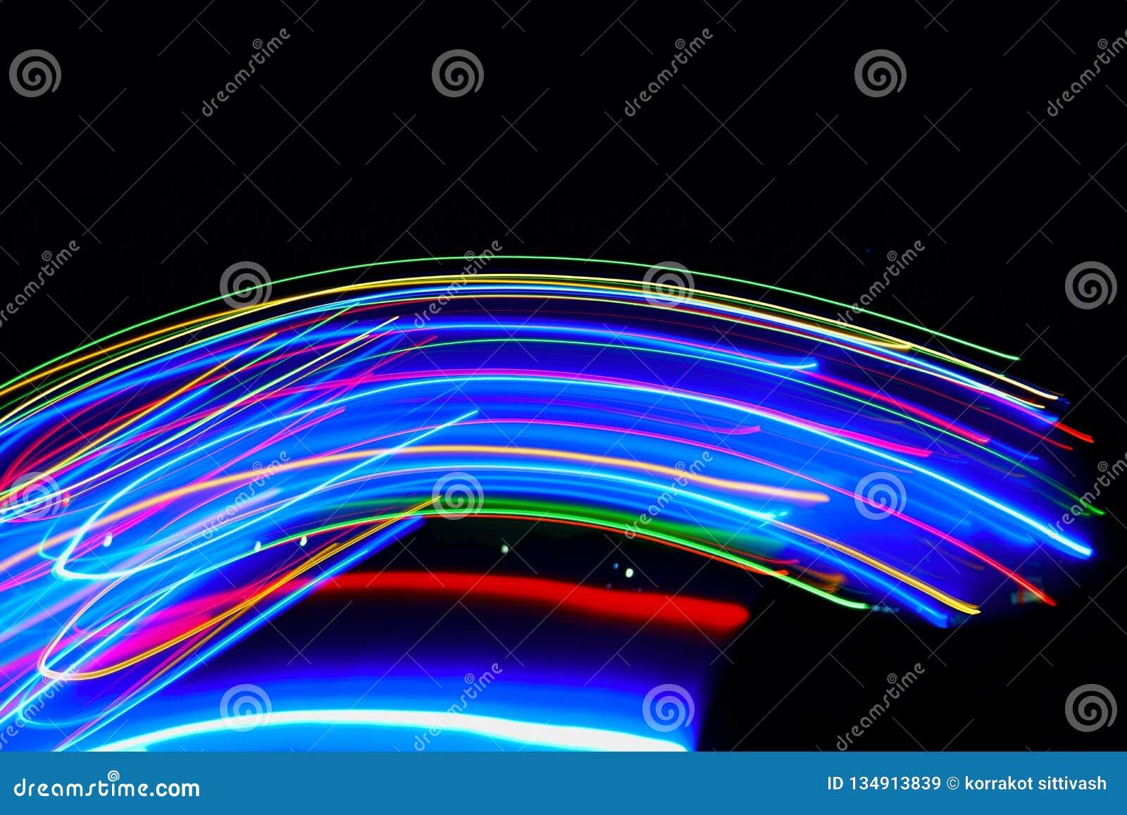 Sumário de colorido obscuro de luzes do diodo emissor de luz dos movimentos