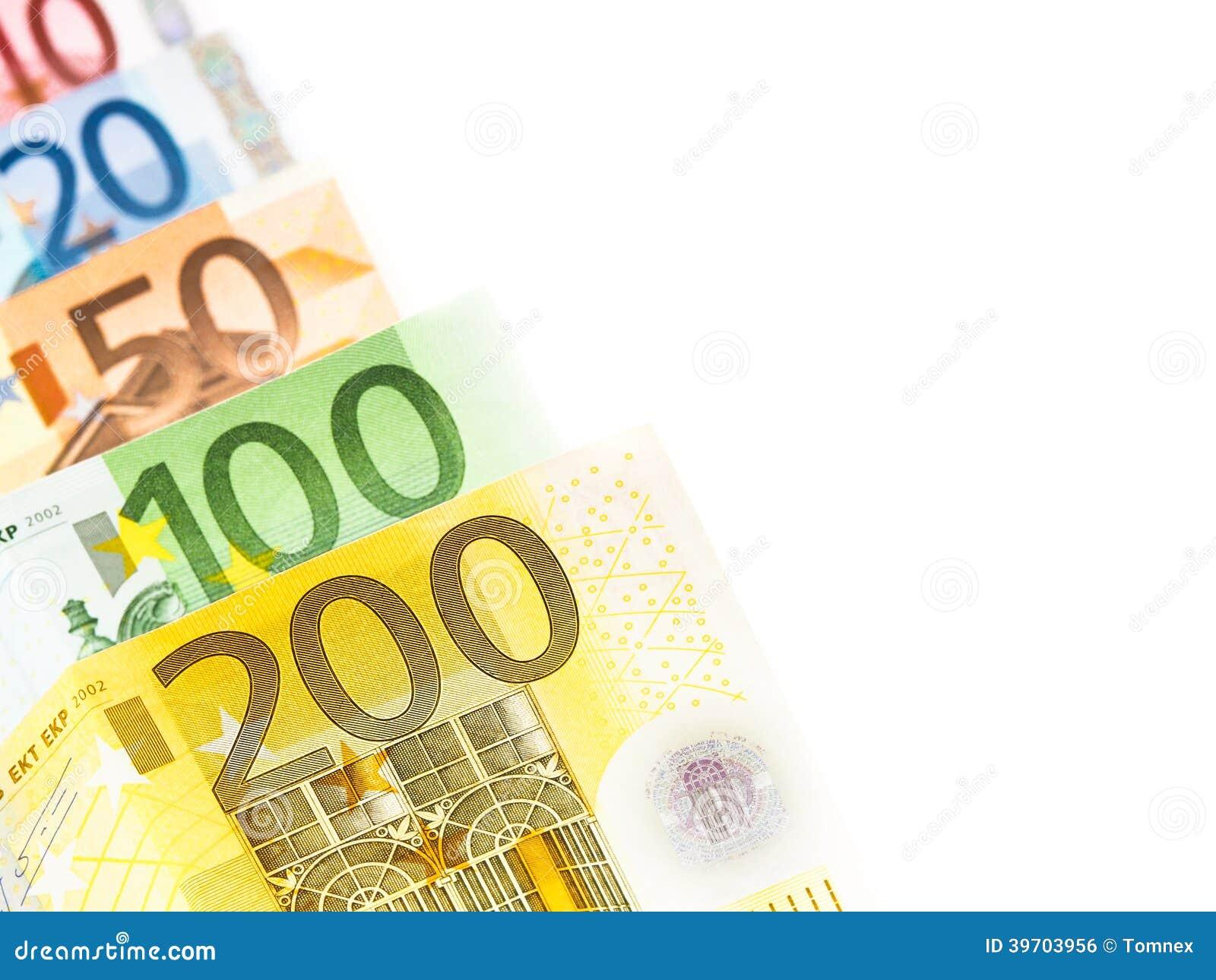 Sumário do dinheiro do Euro