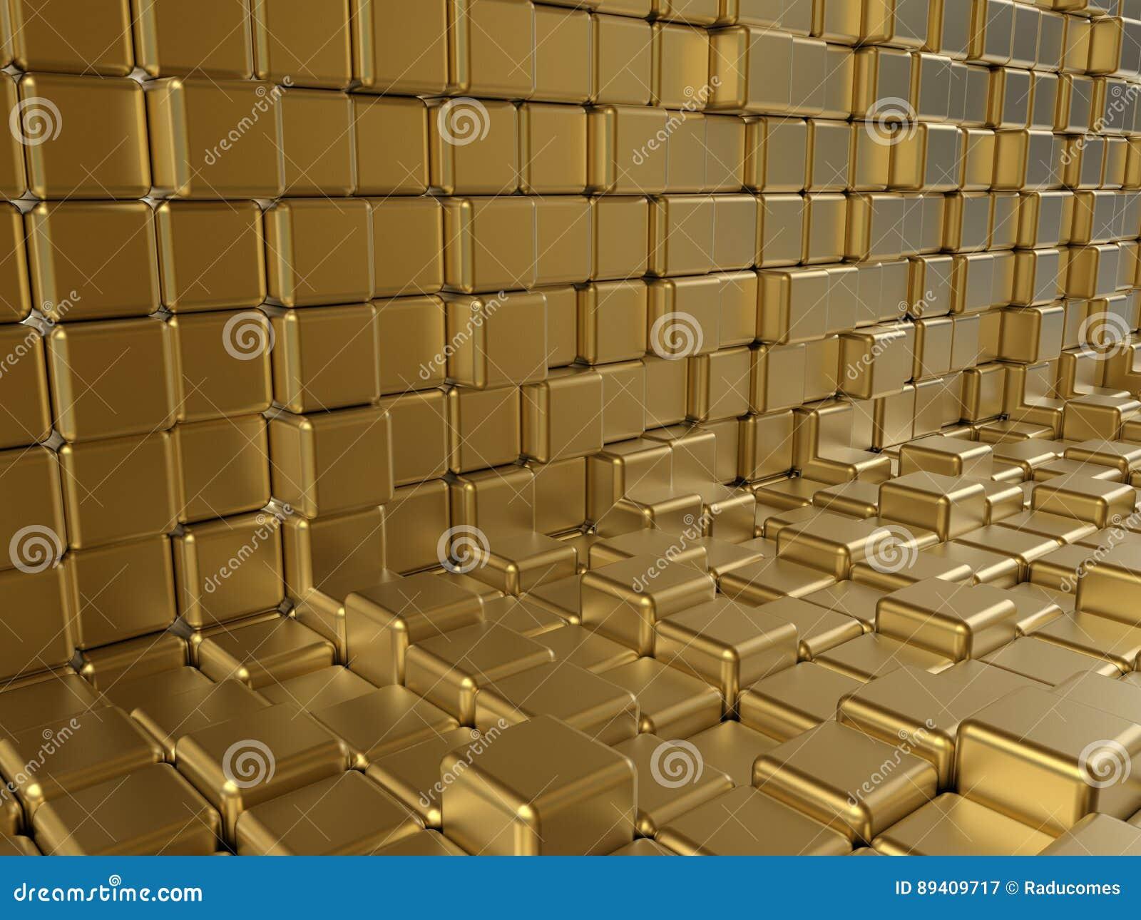 Sumário dourado dos cubos