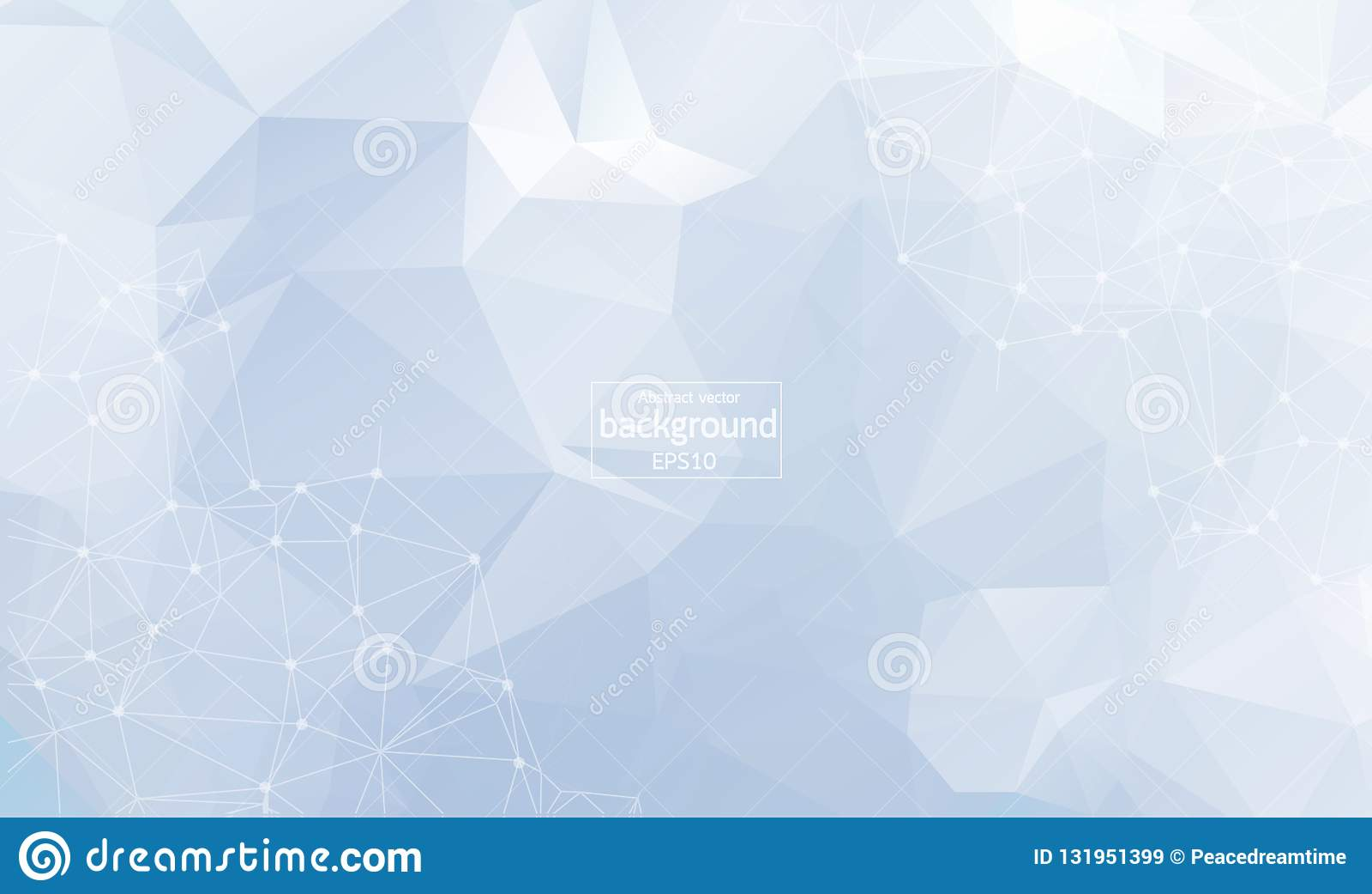 Sumário geométrico com linha e os pontos conectados Fundo sem emenda gráfico Contexto poligonal à moda moderno para seu projeto
