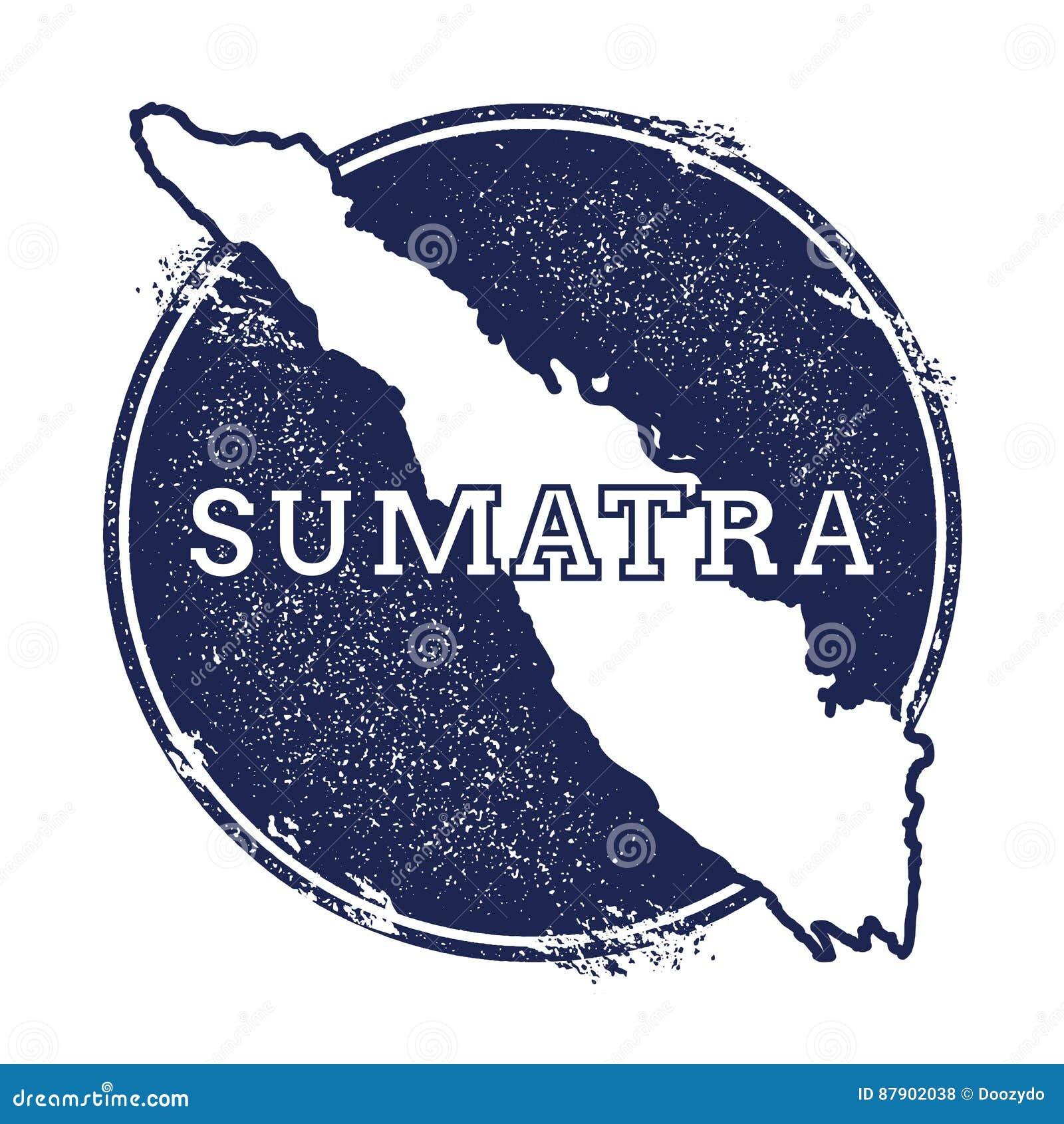Sumatra wektorowa mapa