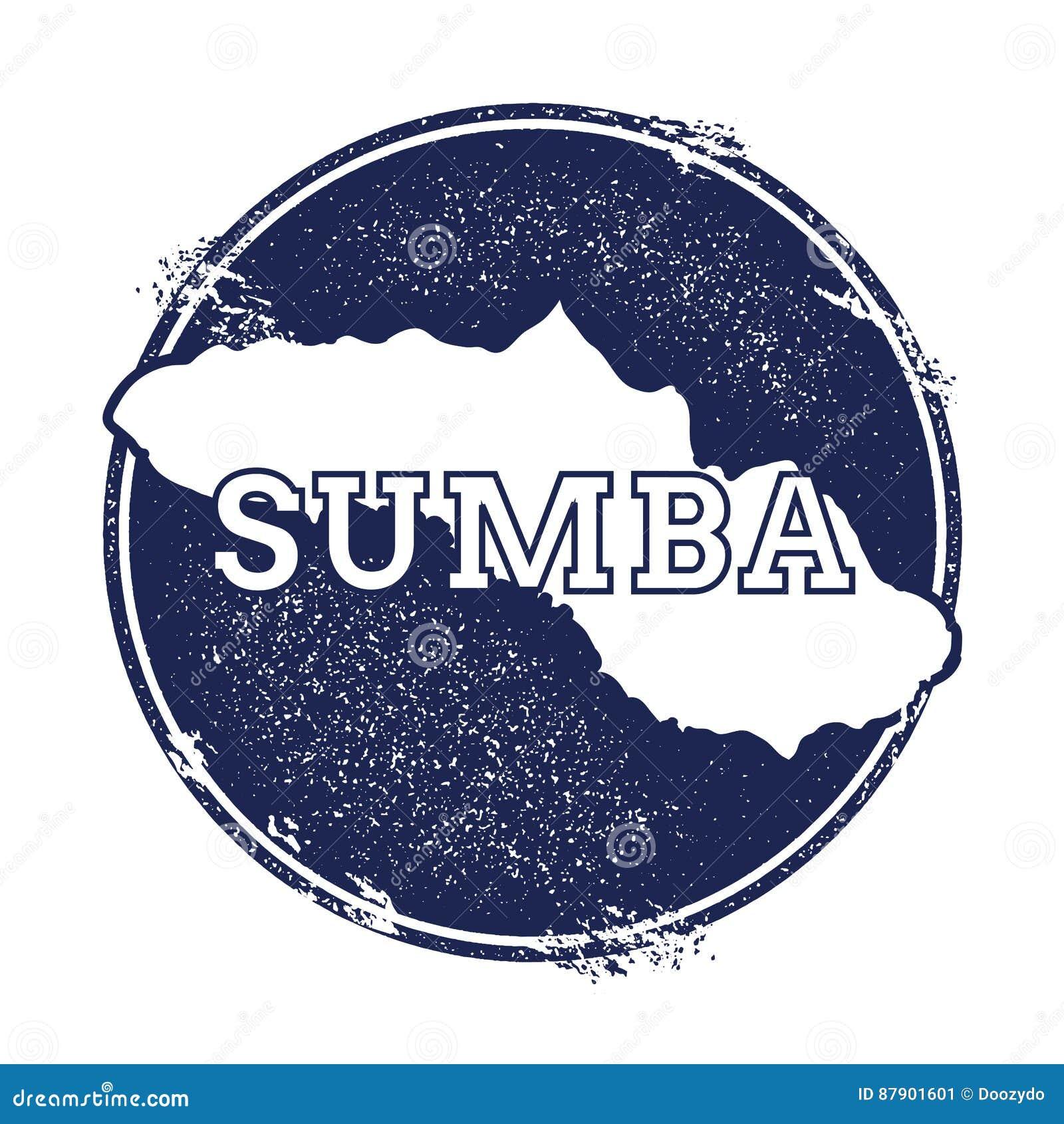 Sumba wektorowa mapa