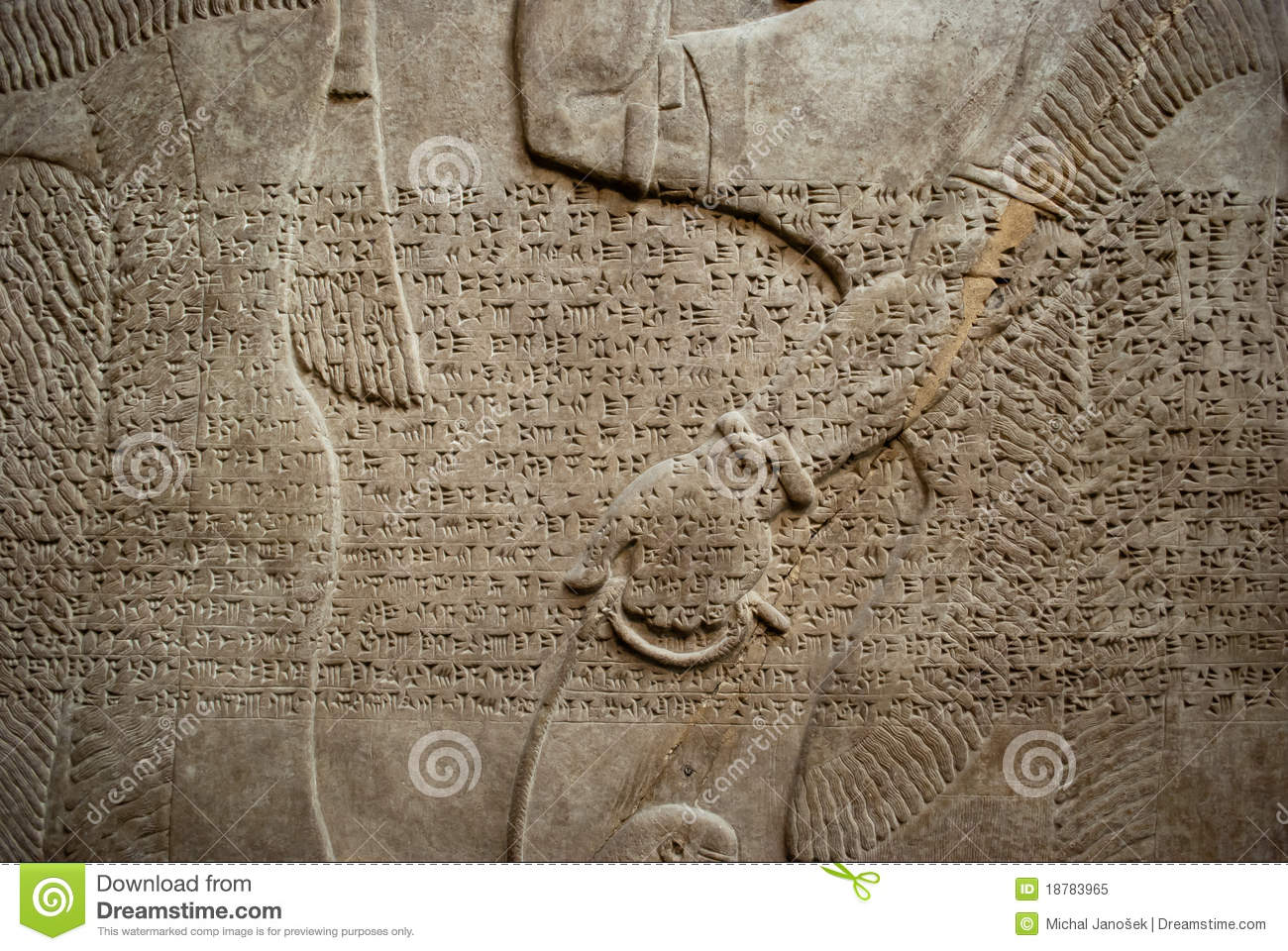 sumerian wall stock image image of hand cuneiform
